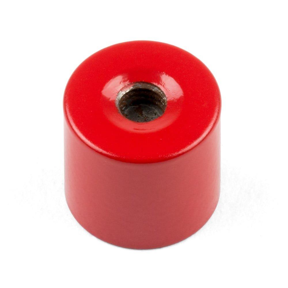 Magnet Expert® 17mm diamètre x 16mm Alnico Profond serrage aimant, M6 fileté trou, 2,5kg force d'adhérence, pack de 1
