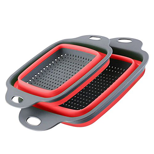 Colanders Strainers Kitchen Colanders Set Strainer Basket Collapsible (Small Dish Clip Mesh)