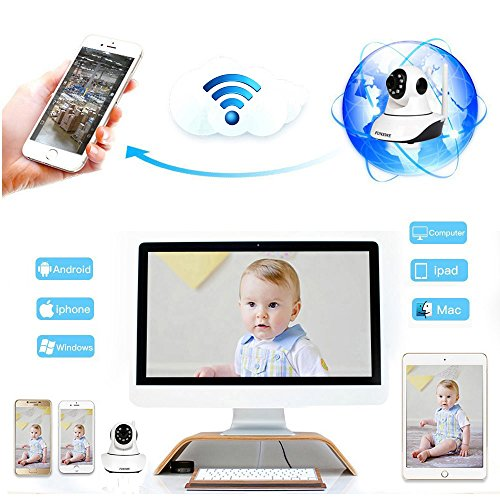 Funxwe 1080P WiFi Wireless IP Camera Pan/Tilt PTZ Security Surveillance 2.0 Megapixels Two-way Audio Baby Monitor Webcam with SD Card Slot by Funxwe (Image #6)