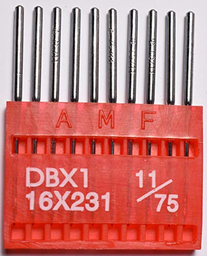 - SFG AMF Industrial Sewing Machine Needle Round Shank Universal Ball Point DBX1 75/11 Qty 100
