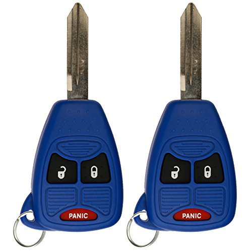 KeylessOption Keyless Entry Remote Control Car Key Fob Replacement for OHT692427AA KOBDT04A Blue (Pack of 2) by KeylessOption