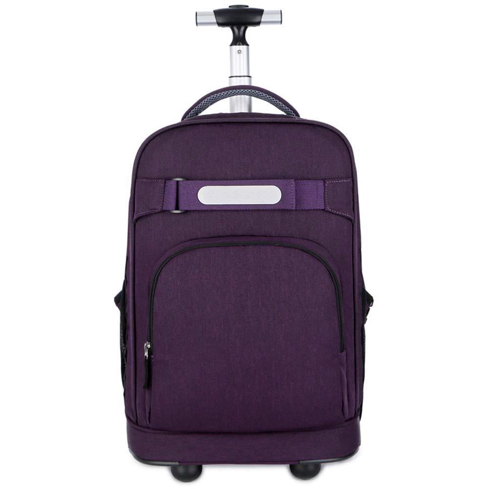 TONGSH ローリングバックパック旅行動かされたラップトップバックパック用女性男性キャリーキャリースーツケースコンパクトビジネスバッグカレッジスクールコンピュータバッグフィット15.6インチノートブック (Color : Purple) B07T73YT3Q Purple