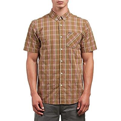Volcom Men's Melvin Short Sleeve Plaid Button up Shirt