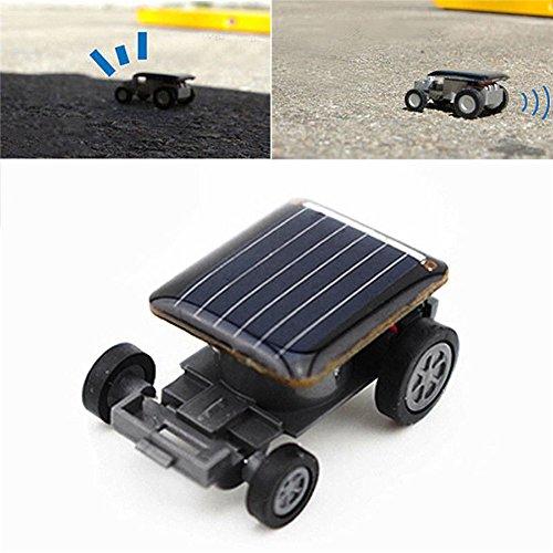 (Braceus Mini Solar Powered Robot Racing Car Vehicle Educational Gadget Kids Gift Toy)