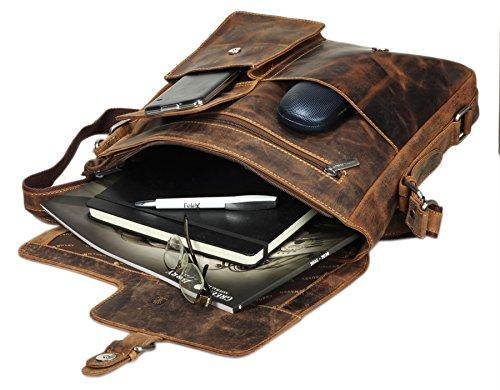 Greenburry Vintage Revival Vol. 1 borsa a tracolla pelle 32 cm marrone