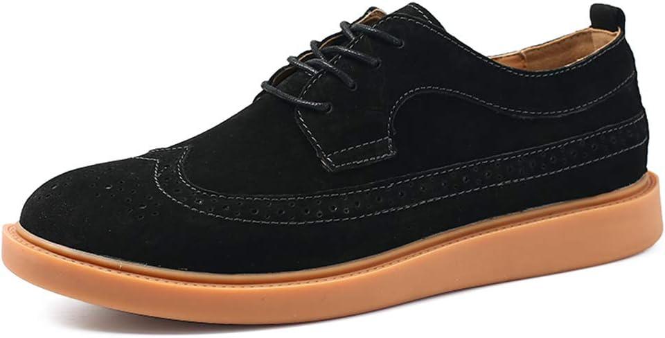 Qiming-MS Herren Oxford Schn/ürschuh Fashion Classic Oxford Komfortable atmungsaktive Geschnitzte Brogue-Schn/ürschuhe Formale Schuhe Color : Braun, Gr/ö/ße : 38 EU