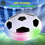 Rousu Kids Adults Air Hover Ball Pneumatic Suspension Soft Foam Floating Soccer with LED Lights for Indoor & Outdoor Games