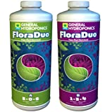 General Hydroponics Floraduo A & B Fertilizer, 1 quart