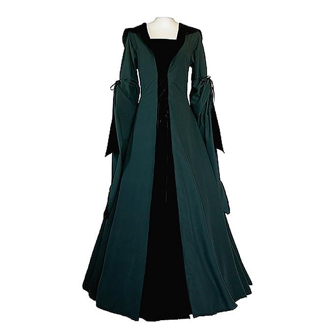 Amazon.com: cosplaydiy Verde Oscuro de la mujer Negro ...