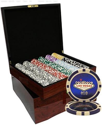 Mrc Poker MRC - Juego de 750 fichas Láser de Póquer Las Vegas Casino con Estuche de Madera de Alto Brillo: Amazon.es: Deportes y aire libre