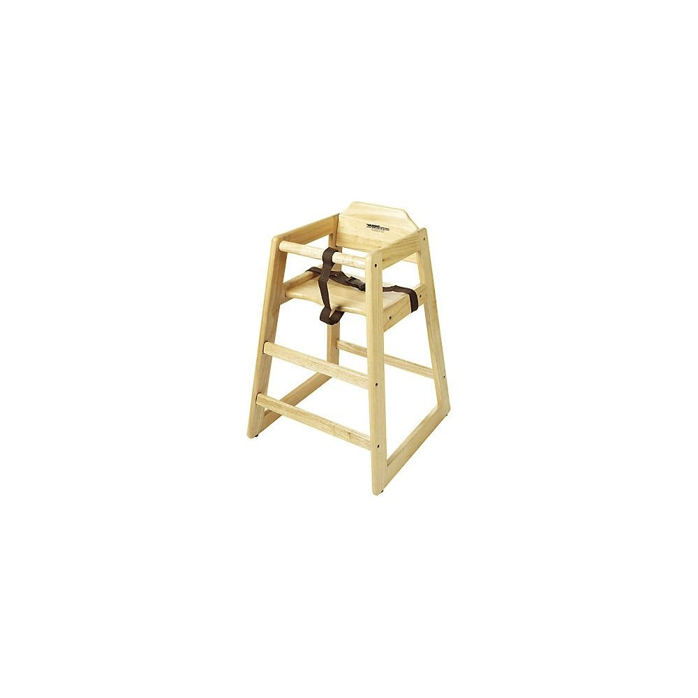 G.E.T. HC-100-N-2 Natural Finish Wooden Stackable Hi-Chair