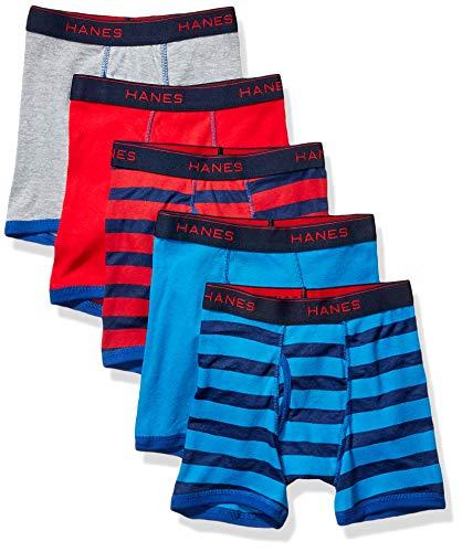 Hanes Boys' Comfort Flex Fit Sport Ringer Boxer Briefs, Assorted Solids, Small