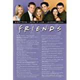 Friends Everything I Know in Life Poster - 24x36