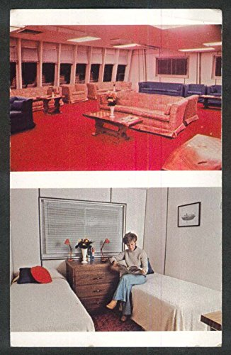 Nantucket Lounge & Stateroom Independence American Cruise Lines postcard 1970s