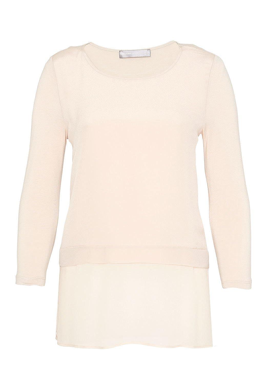 HALLHUBER Layer Shirt im Fabric-Mix auf Figur geschnitten, leicht tailliert