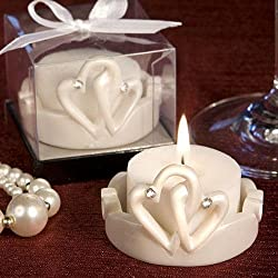 Candle Wedding Favors: Interlocking Hearts, 180