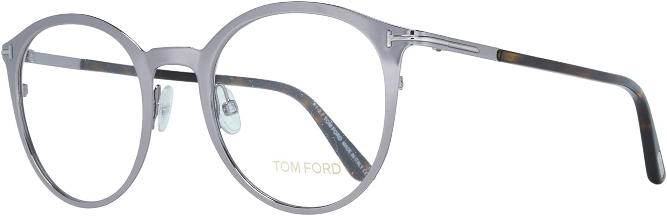 bda1892405 Tom Ford Oval Eyeglasses TF5465 014 Light Ruthenium/Havana 50mm FT5465