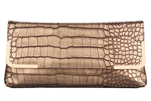 Crocodile Skin Bags (Grace Angel Women's Crocodile Skin Embossed PU Leather Evening Handbag Clutch)
