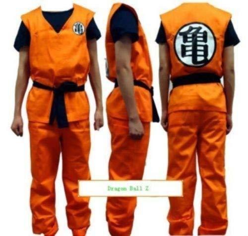 Women Men Costume Anime Dragon Ball Z Goku Orange Cosplay Uniform -