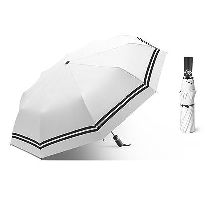 DYEWD Paraguas,Paraguas a Rayas de Moda, Paraguas automático, Paraguas para Mujer de