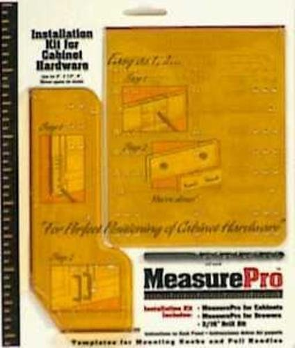 MEASURE PRO INSTALLATION GUIDE CABINET HARDWARE KIT