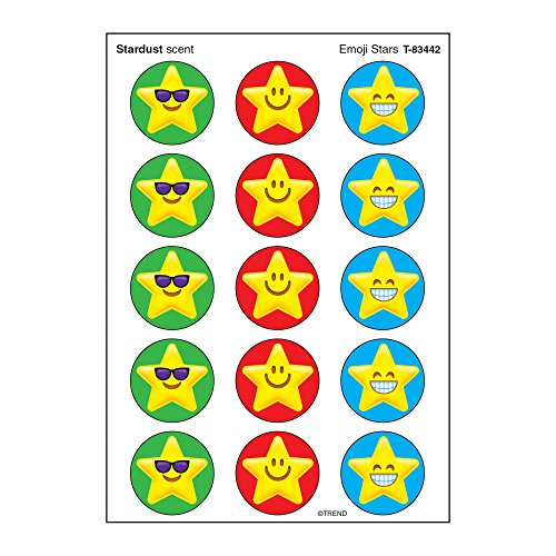 TREND enterprises, Inc. T-83442BN Emoji Stars Stinky Stickers, 60 Per Pack, 12 ()