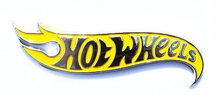 NEW Hot Wheels LH /& RH Fender Emblems  Black /& Chrome For Mustang Camaro