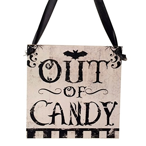 Tinksky Halloween Hanging Signs Wooden Hanging Decor Halloween Party Home Supplies -