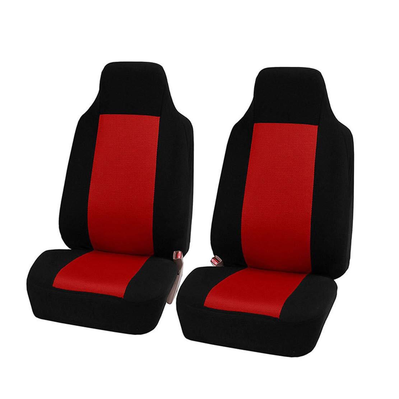 GODGETS Coprisedili Auto Set Completo Universali Anteriori e Posteriori Set Coprisedile,Slittata Resistente allUsura Accessori Auto Interno,Nero Blu,2 Seater Anteriore