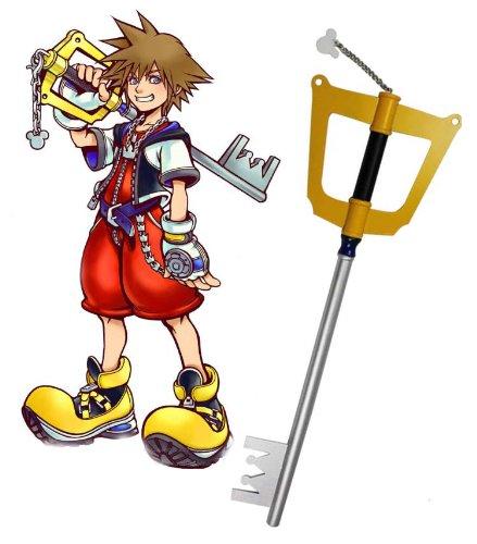 Kingdom Hearts Sora Kingdom Key Keyblade Wooden Cosplay Prop 87cm
