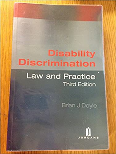 Disability Discrimination: Law and Practice