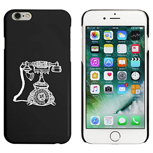 Noir 'Téléphone' étui / housse pour iPhone 6 & 6s (MC00015017)