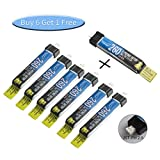 #9: Wolfwhoop 7pcs 260mAh HV 1S LiPo Battery 35C 3.8V LiHV for Tiny Whoop JST-PH 2.0 Connector