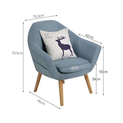 Incredible Amazon Com Qqxx Aglzwy Fabric Tub Chair Armchair Assembled Ocoug Best Dining Table And Chair Ideas Images Ocougorg