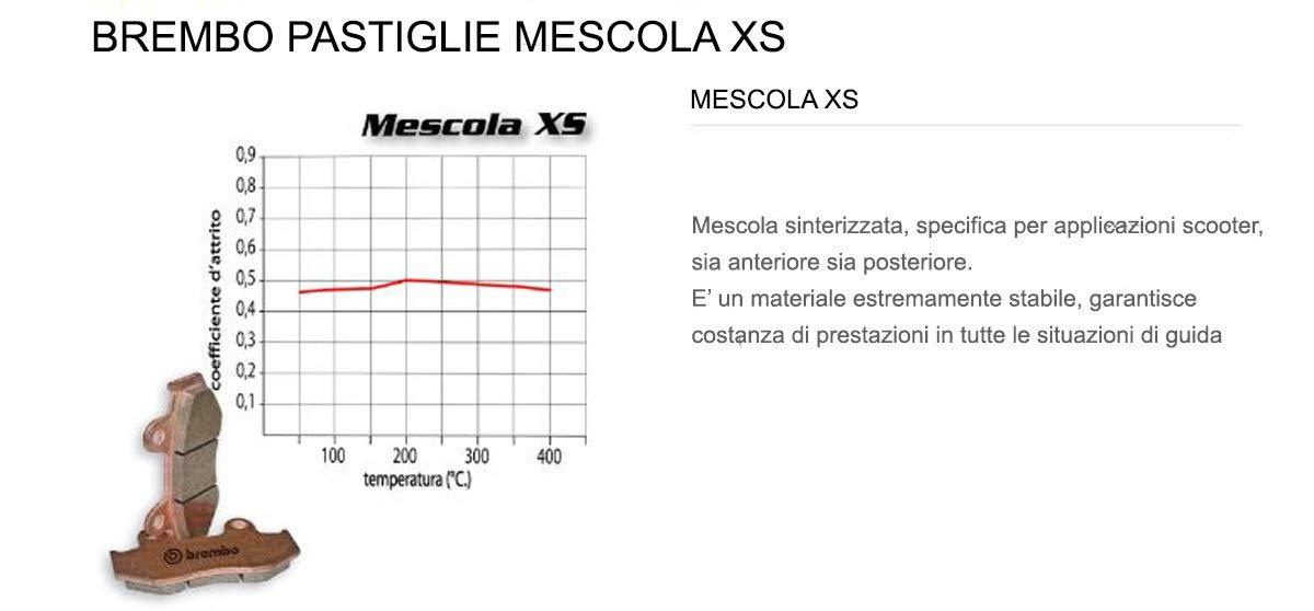 400 2006  2008 Pastiglie Brembo Freno Post 07056.XS per BEVERLY I.E