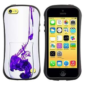 Fuerte Suave TPU GEL Caso Carcasa de Protección Funda para Apple Iphone 5C / Business Style Minimalist Clean Purple Design