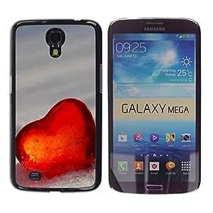 Paccase / SLIM PC / Aliminium Casa Carcasa Funda Case Cover - Love Heart Winter - Samsung Galaxy Mega 6.3 I9200 SGH-i527