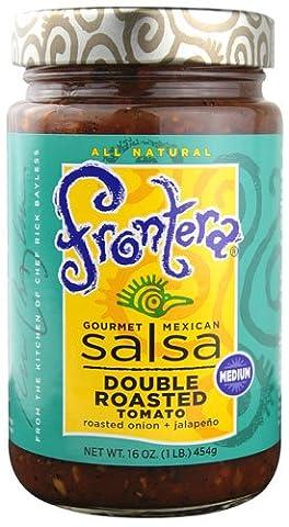 Frontera Gourmet Mexican Salsa Medium Double Roasted Tomato -- 16 oz - 2 pc (Frontera Double Roasted)
