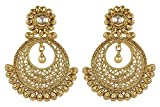 MUCH-MORE Indian Amazing style Gold Plated Party Wear Polki/Jhumka Earring Jewelry For Women (7181)