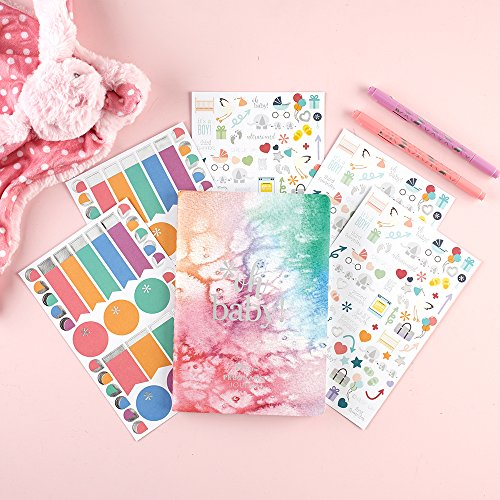 Erin Condren Pregnancy Planner/Journal Bundle with Stickers (Includes PetitePlanner w/Illustrative and Functional Stickers