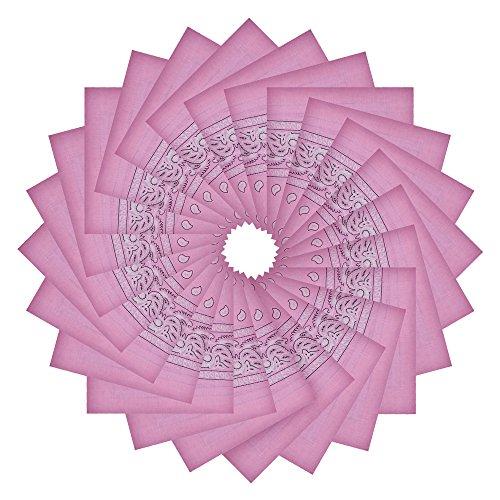 Alotpower Cute Bandanas Handkerchiefs Stylish Headbands for Decoration,24 Pack Pink (Mens Square Printed Bandana)