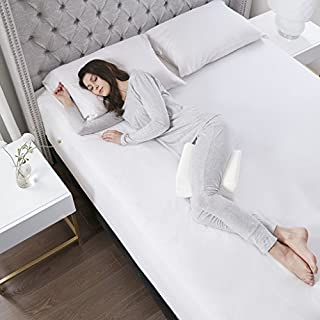 Sleep Philosophy Leg Knee Pain Relief Spinal Alignment Pregnancy Pillow For Side Sleeper, Standard Size, White