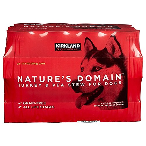 Nature's Domain Turkey & Pea Stew Dog Food, Grain Free - 24 Cans (13.2oz) + Special - Food Kirkland Dog Grain Free