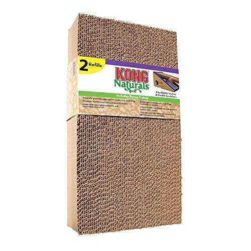 KONG CS9 Scratcher Refill for Incline and Double Cat Toy (2 Pack) (Scratcher Refill)