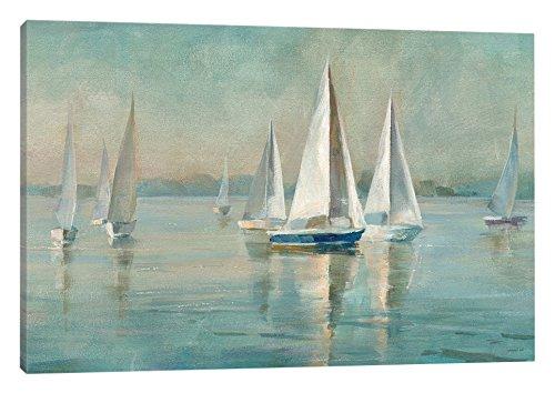 iCanvasART Sailboats at Sunrise Canvas Print by Danhui NAI, 40