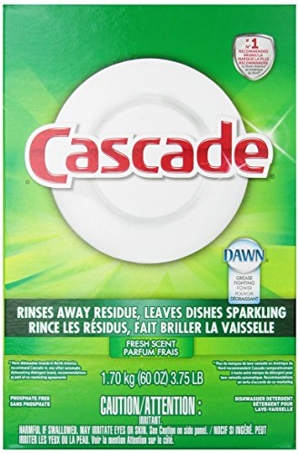 Cascade Powder Dishwasher Detergent, Fresh Scent 60 Oz