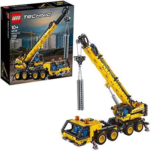 LEGO Technic Mobile Crane 42108 Building Kit, A Super Model Crane to Build for Any Fan of Construction Toys, New 2020 (1,292 Pieces)