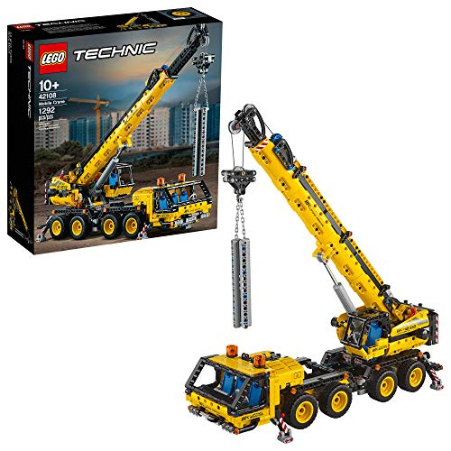 Cheap LEGO Technic Mobile Crane 42108 Building Kit, A Super Model Crane to Build for Any Fan of Construction Toys, New 2020 (1,292 Pieces) lego technic set