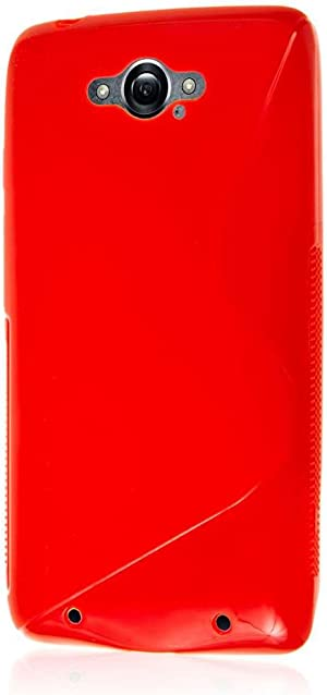 Droid Turbo Case, MPERO Flex S Series Protective Case for Motorola Droid Turbo (NOT Compatible with Ballistic Nylon Back) - Red