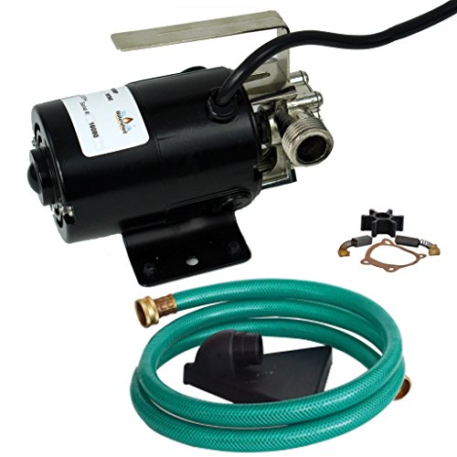 Watershed Innovations 320GPH HydraPump Mini-115V 1/10th hp 330 GPH Portable Transfer Water Pump with Metal Connectors for Standard 3/4